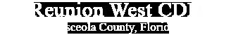 Reunion West CDD, Osceola County